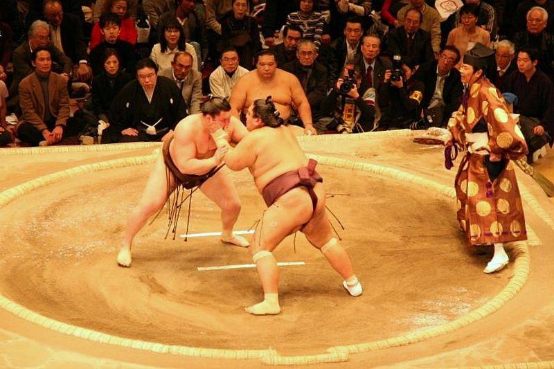 Sumo là môn thể thao truyền thống của đất nước mặt trời mọc