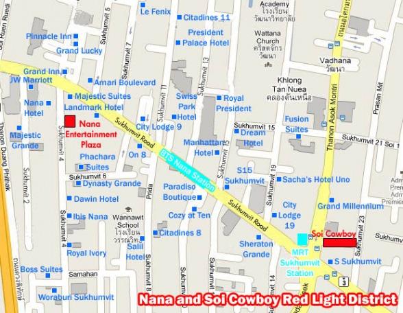 Phố đèn đỏ ở Bangkok - Bản đồ