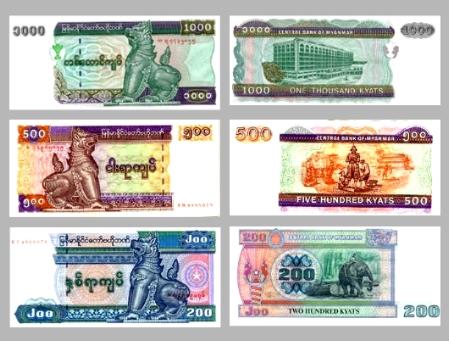 Tiền Myanmar - Kinh nghiệm du lịch Myanmar