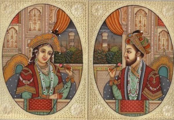 Hoàng đế Shah Jahan và Hoàng hậu Mumtaz Mahal