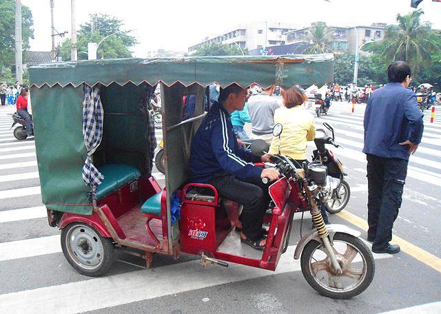 Xe auto rickshaw ở Ấn Độ