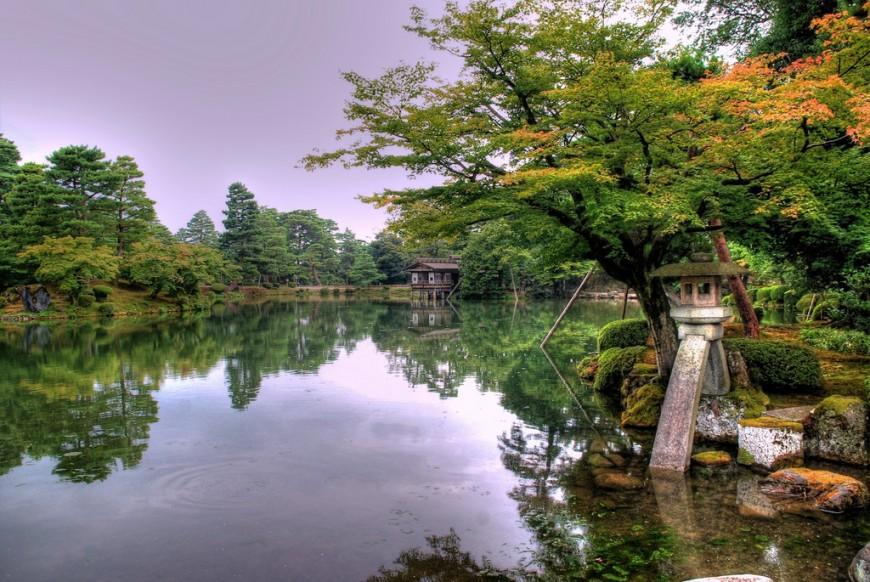 Công viên Kenrokuen là một trong ba khu vườn đẹp nhất Nhật Bản.