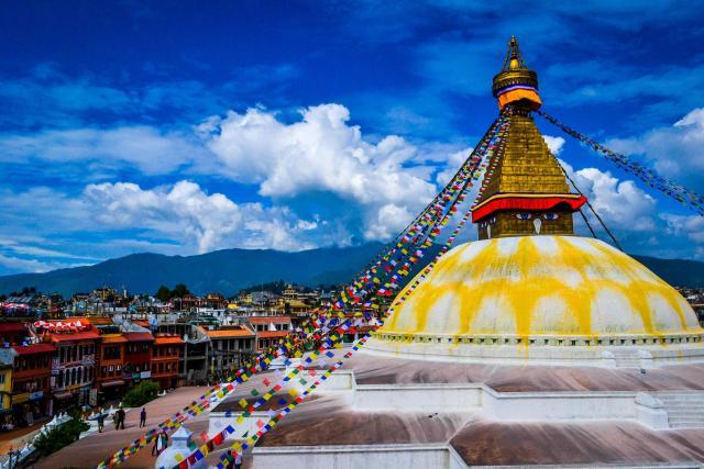 Boudhanath là trung tâm của phái Phật giáo đại thừa ở Nepal.