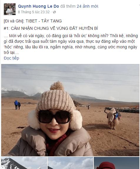Chia Sẻ MC Quỳnh Hương Khi Du Lịch Tây Tạng