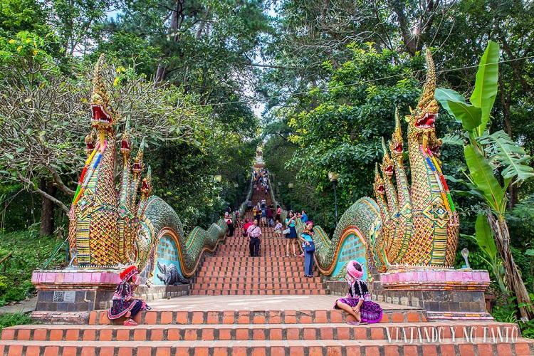 Trước đây, con đường dẫn đến chùa hết sức khó khăn cho tới khi có dự án xây đường lên chùa