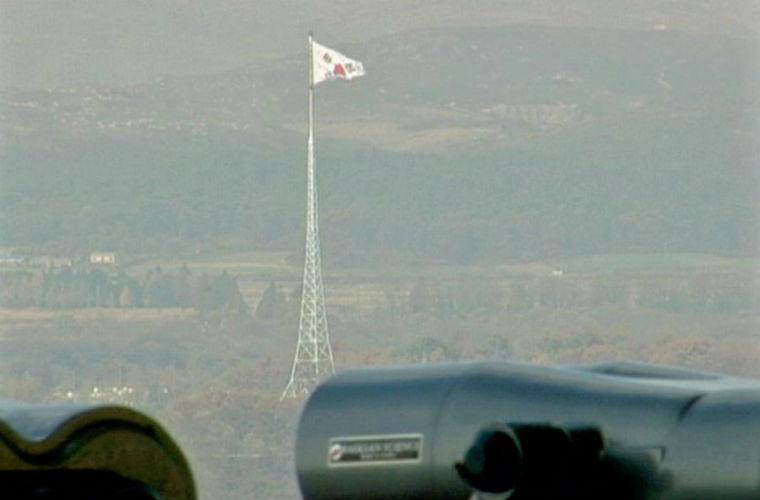 Hàn Quốc dựng lên 1 cột cờ cao 98m trên lãnh thổ gần khu phi quân sự DMZ