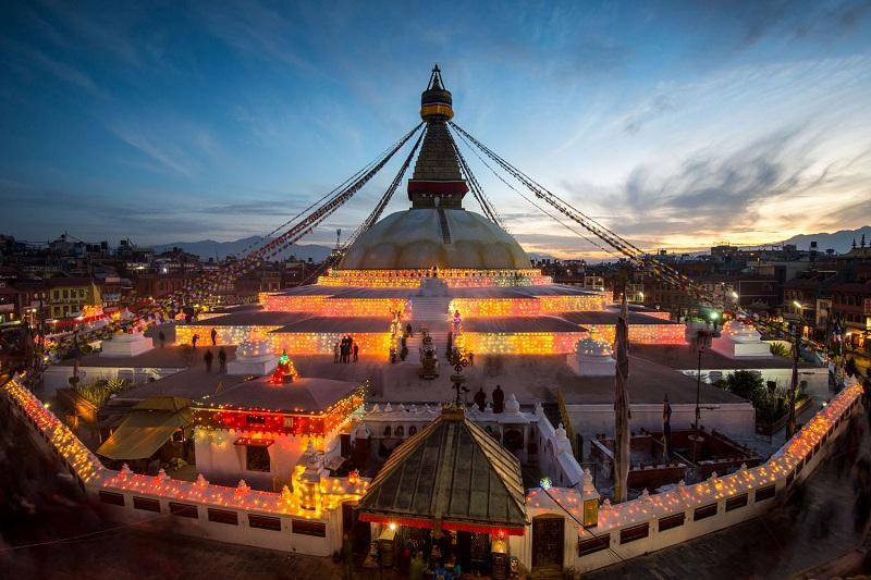 Ngọn bảo tháp ở Đền Khỉ là một trong những bảo tháp đẹp nhất Nepal