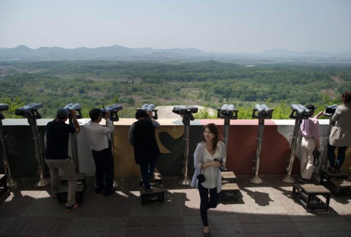 Đài quan sát Dora giúp du khách quan sát được sang Triều Tiên