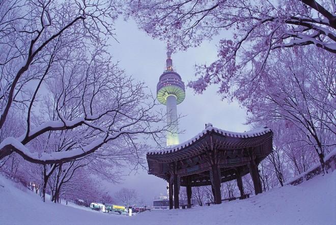 Kết quả hình ảnh cho tháp namsan mùa đông