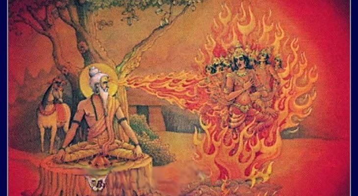 Các vương tử bị thiêu sống bởi ngọn lửa phát ra từ đôi mắt giận dữ của vị thần