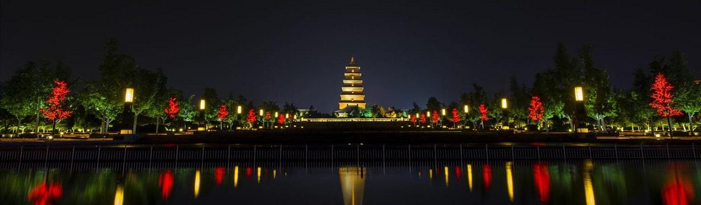 Tháp Đại Nhạn, bảo tháp nổi tiếng và linh thiêng tại Tây An. Tại đây, gần 1500 trước, ngài Đường Tam Tạng đã dịch kinh Phật từ tiếng Phạn sang tiếng Hán sau khi thỉnh kinh từ Ấn Độ về.