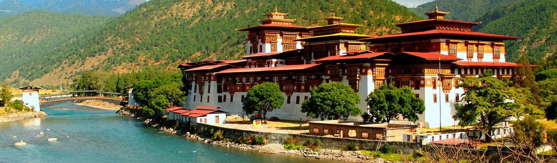 Pháo đài Punakha được xây dựng từ năm 1637, pháo đài hiện là nơi nghỉ đông của các vị trụ trì của tăng đoàn Bhutan, đây cũng là một trong những pháo đài đẹp nhất Bhutan, nằm giữa con sông Mo Chu (sông mái) và sông Pho Chu (sông trống).