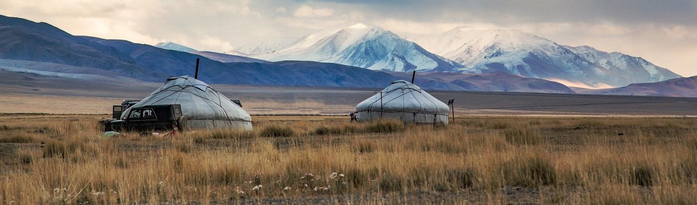 Dãy núi Tsengel Khairkhan ở độ cao 4000m. Đây được coi là đỉnh cao thiêng liêng của người Tuvan và là nơi trú ngụ của động vật vào mùa đông