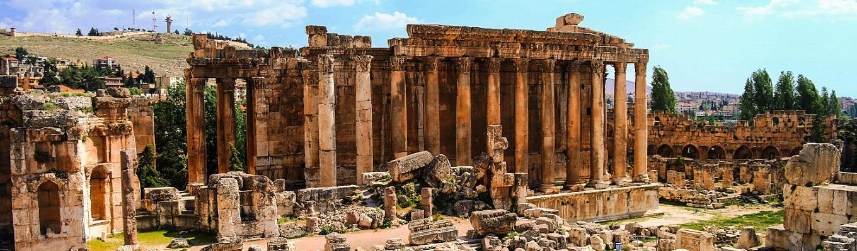 Đền thờ thần Bacchus, vị thần rượu nho trong thần thoại La Mã, ngôi đền được hoàng đế La Mã Antonius Pius cho xây dựng vào thế kỷ III, đây là đền thờ được bảo tồn hầu như nguyên vẹn nhất khu vực.