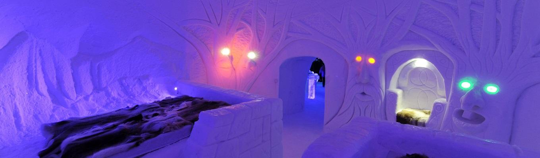 Khách sạn băng Snow Hotel tại Kirkenes, một trong những khách sạn bằng băng độc đáo trên thế giới.