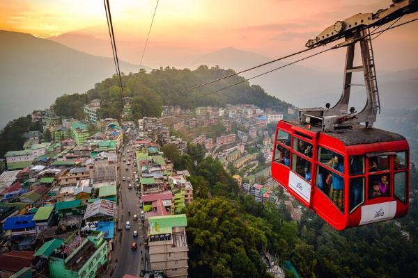 cáp treo ở Sikkim
