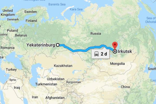 bản đồ lộ trình di chuyển khi du lịch Nga