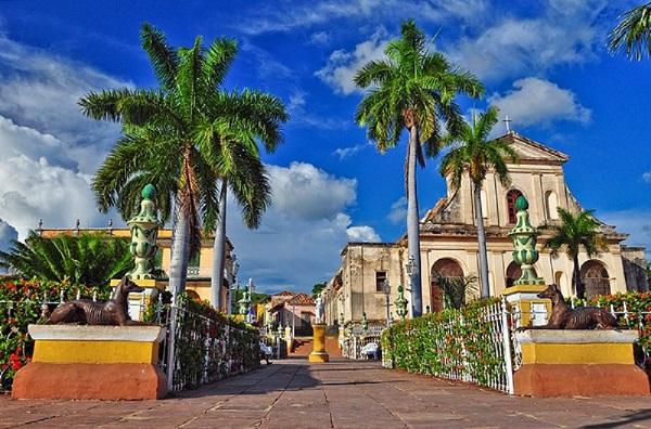 Bức tranh cổ kính của thành phố Trinidad.