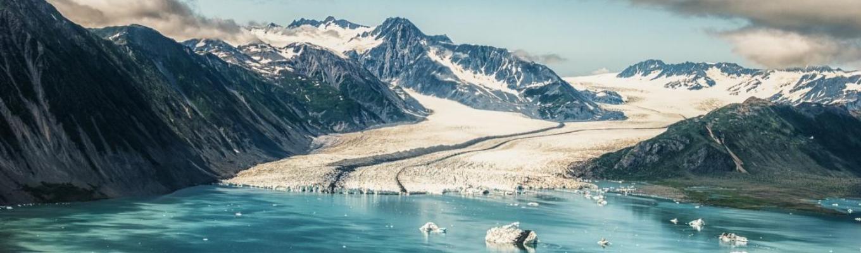 Sông băng Bear Glacier là dòng sông băng lớn nhất vườn quốc gia Vịnh hẹp Kenai. Sông băng Bear Glacier đổ xuống bình nguyên tạo thành một sông băng kiểu Piedmont hình dĩa độc đáo.