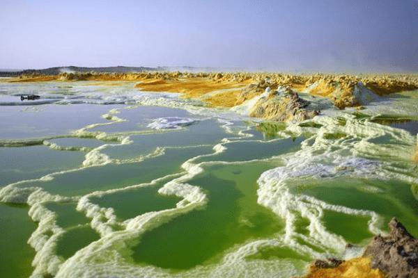 lớp vỏ muối ở Danakil