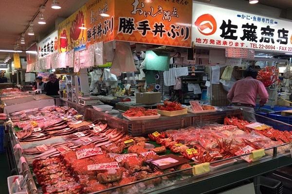 Chợ Washo ở thành phố Kushiro
